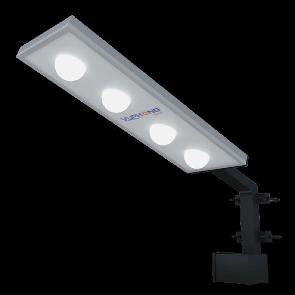 Solar Outdoor Wall/Post Mount Light w/ 4 Bulbs